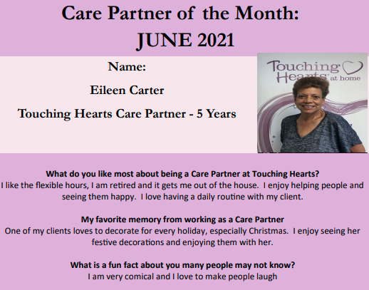 Care Partner of the Month - June 2021